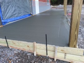 Front slab being after pour.