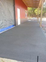 Finished porch concrete.