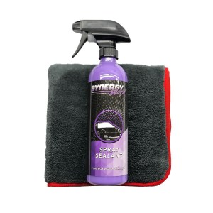 Spray Sealant + Ultra Plush Microfiber Combo