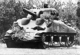 Inflatable Sherman Tank