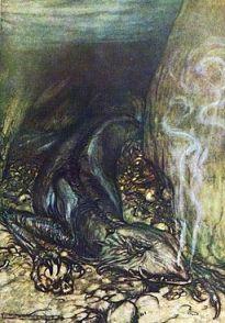 Fafnir  by Arthur Rackham (PDI)