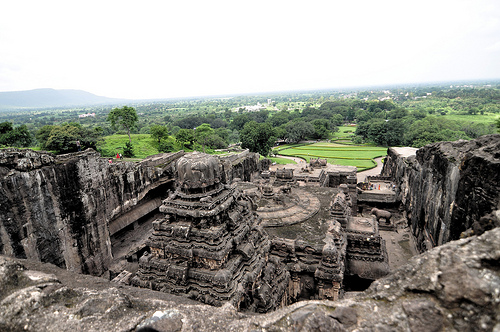 Looking out from Cave 16, The Caves of Ellora © Sankarshan Mukhopadhyay with CCLicense