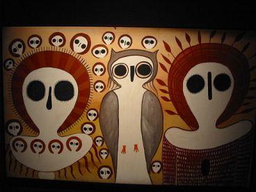 Wandjina style art, Australian Museum, Sydney