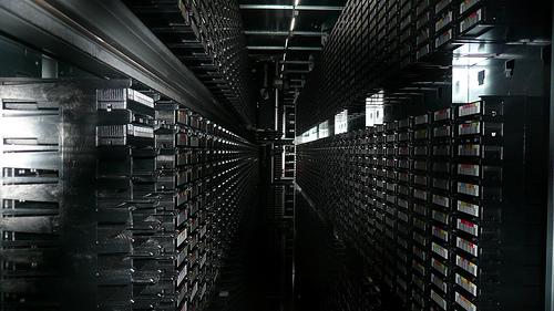 Tape Library of CERN, Geneva  © gruntzooki with CCLicense