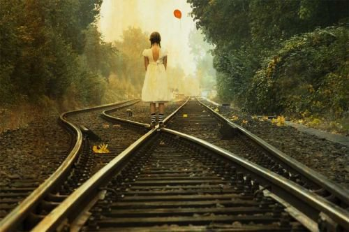 alone beside the train © Assem Hardy with CCLicense