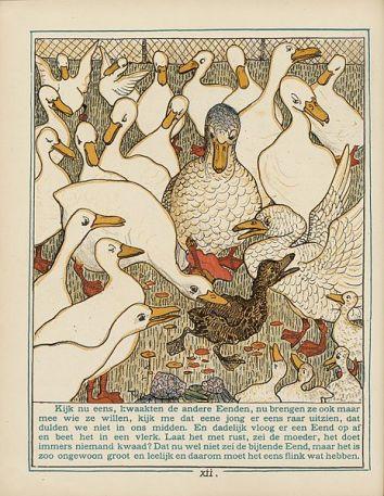 Illustration to H.C. Andersen's Ugly Duckling, Theo van Hoytema, 1893