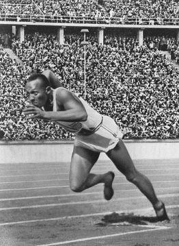 Gold Medalist Jesse Owens, 1936 Olympics, Berlin