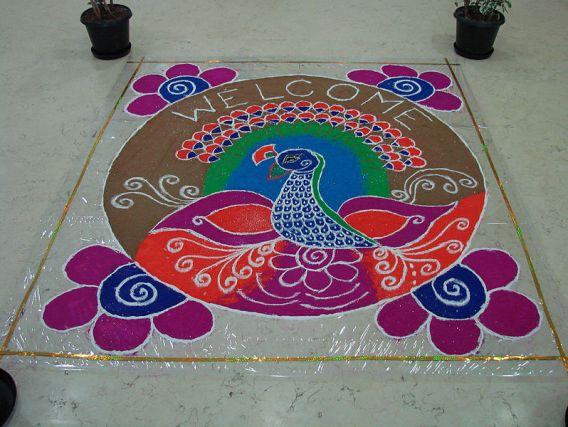 Rangoli in Hyderabad, India © adityamadhav83 with CCLicense