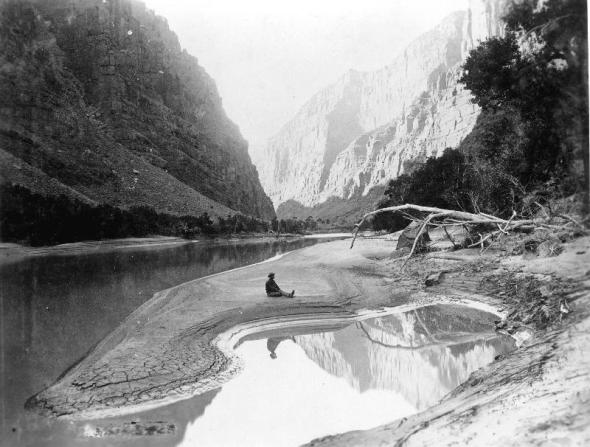 Lodore Canyon, Yampa River 2nd Powell Expedition, 1871-72 Now part of Dinsosaur National Park
