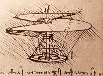 Idea for a Helicopter, Leonardo da Vinci