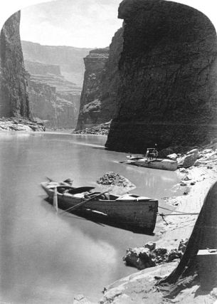 Marble Canyon rest, Second Powell Expedition, 1872
