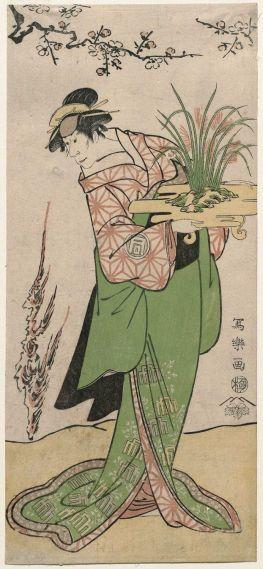 """Tōshūsai Sharaku, portrait of Sanokawa Ichimatsu III as Ihohata"""" , 1794. Public Domain Image."""