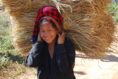 Girl working in Myanmar Public Domain Image via Pixabay