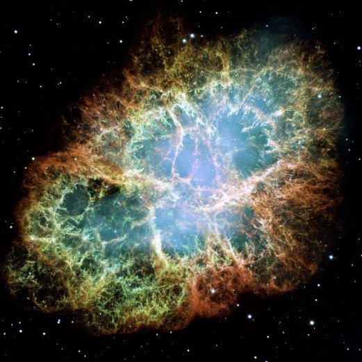 The Crab nebula in Taurus, 6,500 light years from Earth. Credit: NASA, ESA and Allison Loll/Jeff Hester (Arizona State University). Acknowledgement: Davide De Martin (ESA/Hubble)