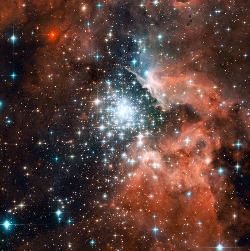 Star Cluster NGC 3603 in the Constellation of Carina, 20,000 light years away. Credit: NASA, ESA and the Hubble Heritage (STScI/AURA)-ESA/Hubble Collaboration