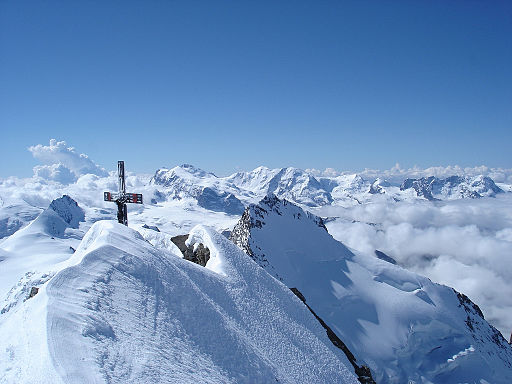 Summit of the Dom, Pennine Alps, Switzerland