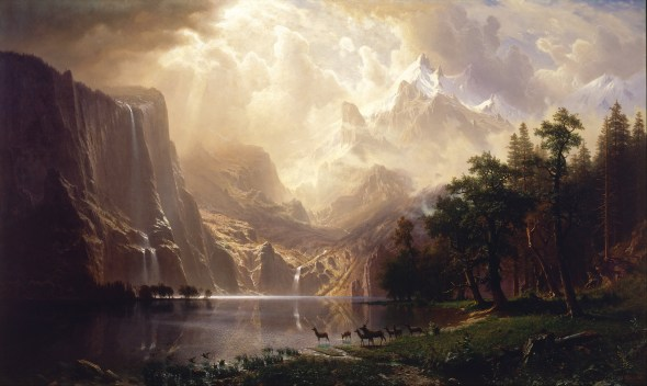 Among the Sierra Nevada Mountains, California Albert Bierstadt, 1868