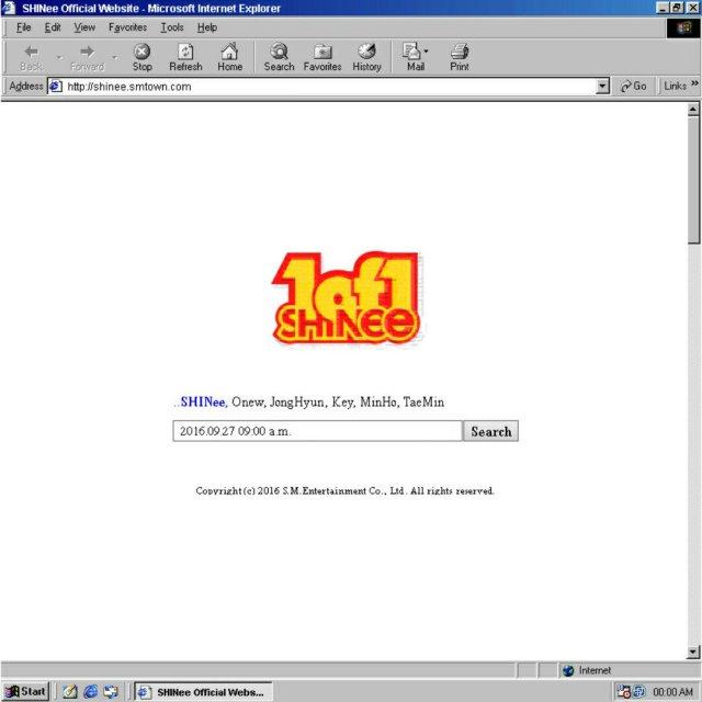 shinee website updated