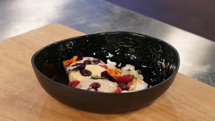 Dacquoise με κρέμα και cranberries   MasterChef 4