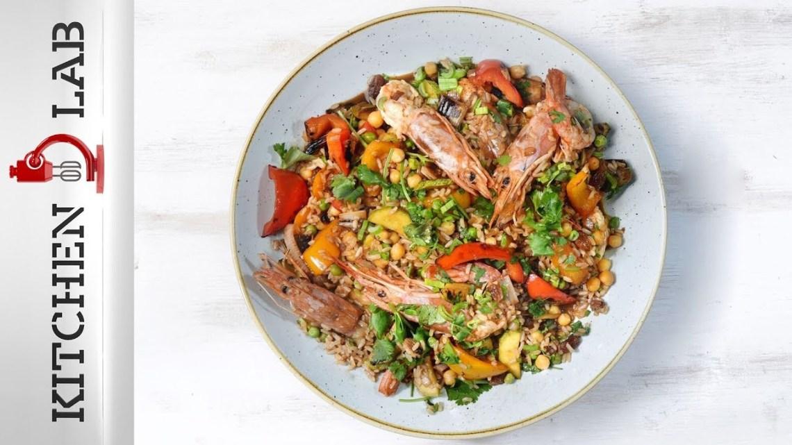 Καστανό ρύζι με γαρίδες Επ.32 | Kitchen Lab TV | Άκης Πετρετζίκης