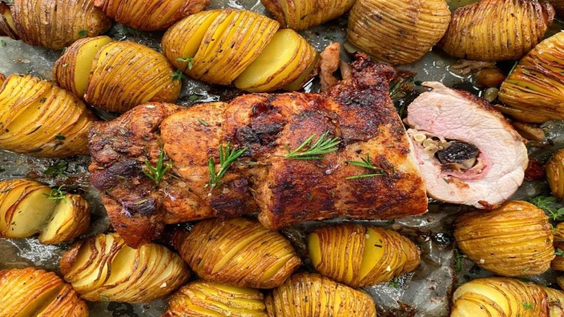 Γεμιστό Χοιρινό και Τραγάνες Πατάτες Λάμπρος Βακιάρος