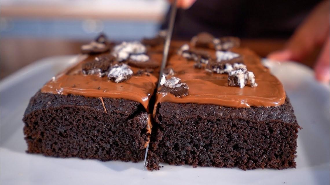 Αφράτο Νηστίσιμο Κέικ με 3 MONO Υλικά (ΧΩΡΙΣ ΜΙΞΕΡ) – 3 Ingredient Vegan Cake