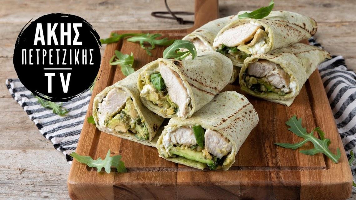 Burritos με Κοτόπουλο και Σάλτσα Πέστο Επ. 49 | Kitchen Lab TV | Άκης Πετρετζίκης