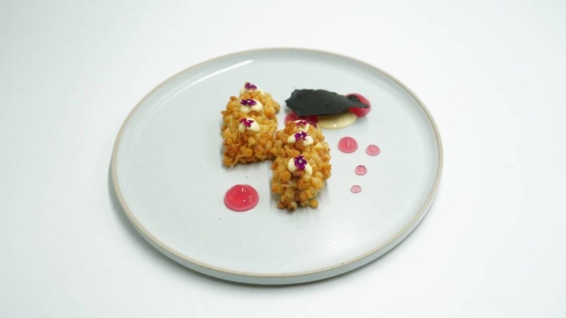 MasterChef 5 | Brandade πεσκανδρίτσας με μαγιονέζα dashi, ponzu, gel κρεμμυδιού και τραγανή πάστα
