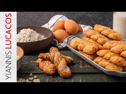 Πασχαλινά κουλουράκια με σουσάμι | Yiannis Lucacos
