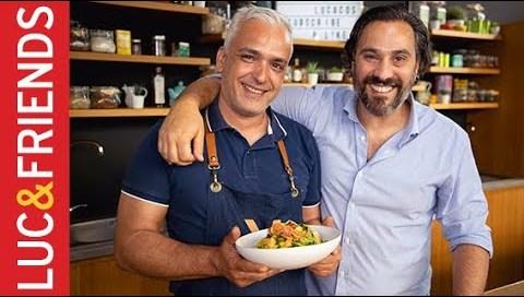Σπαγγέτι με γαρίδες και αγκινάρες - Άγγελος Λάντος   Yiannis Lucacos