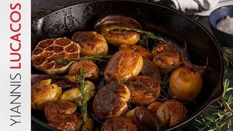 Σπαστές baby πατάτες φούρνου    Yiannis Lucacos
