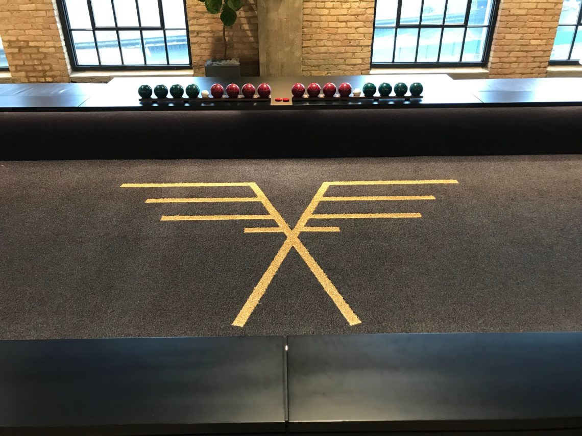 OLD POST OFFICE BOCCE TRANSFORMATION IN CHICAGO.
