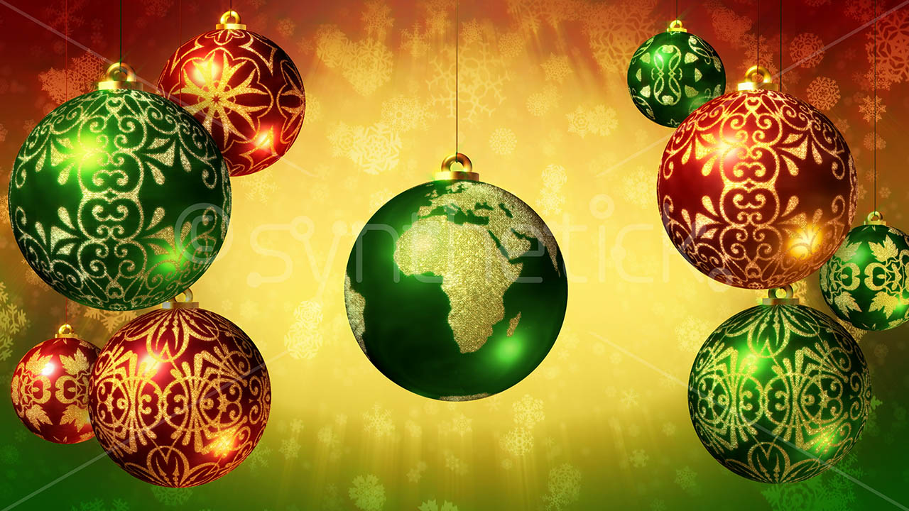 Earth Christmas Ball Stock Video Footage Synthetick