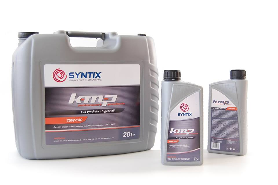 K-M-P LS Gear Oil - Joint Label - Motorsport products - Syntix Innovative Lubricants