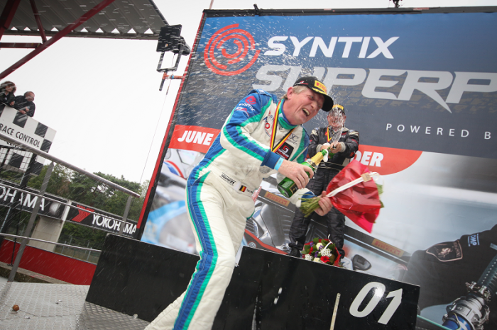 Syntix Superprix in Zolder - Supercar Challenge powered by Pirelli - Final podium celebrating - Syntix Innovative Lubricants