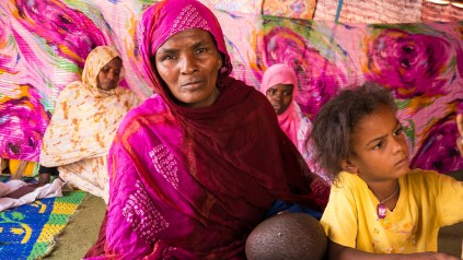 Schweida was born a slave in Mauritania's northeastern Sahara along with her brother Matallah. Schwedeh and her 9 children we freed from slavery in March 2013 after her brother overcame insurmountable odds.