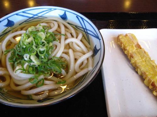 丸亀製麺高知店 かけうどん(大)&ちくわ天