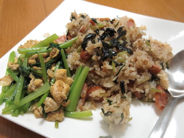 小松菜チャーハン2