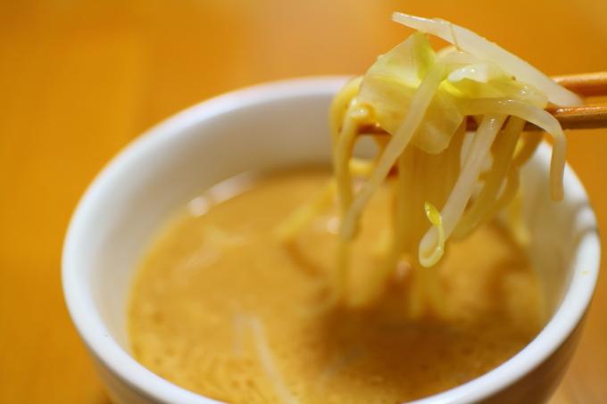 自作・デカ盛りつけ麺5