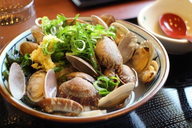 丸亀製麺 春のあさりうどん
