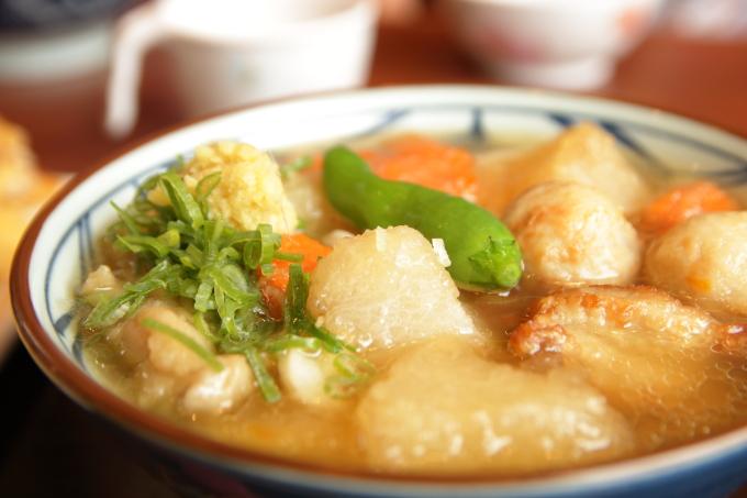 丸亀製麺「ごろごろ野菜の揚げだしうどん」の具材