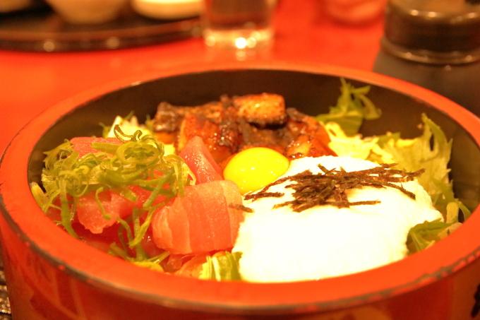 ゆうゆう大津店 ウナギとマグロの山かけ丼
