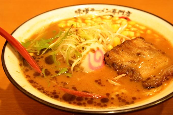 ラーメン國丸。南国店 真田味噌ラーメン コーントッピング