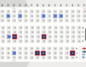 並び席がない