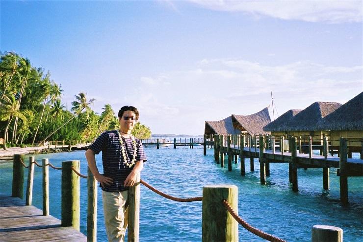 水上コテージ前の桟橋