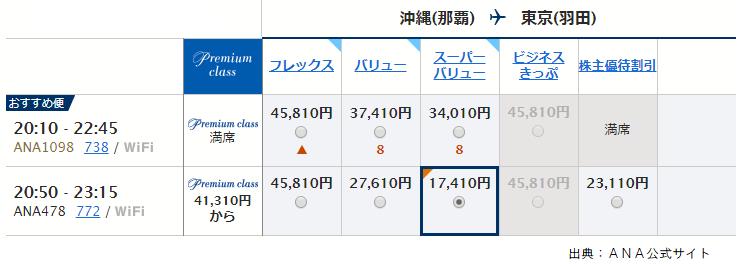 那覇-羽田