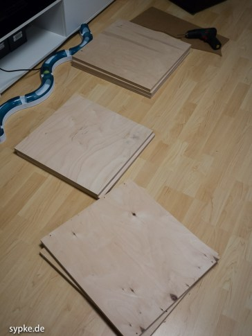 Am Anfang waren nur ein paar Platten aus Multiplex...