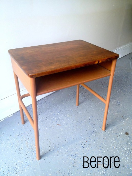 Before: This kids desk will be perfect for our little brother with a new masculine paint job!