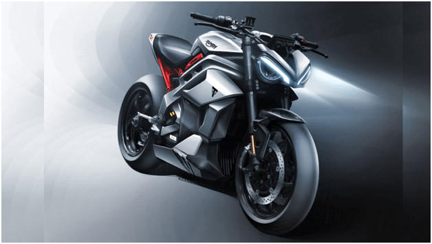 A futuristic-looking Motorcycle with the silhouette of the legendary Speed Triple