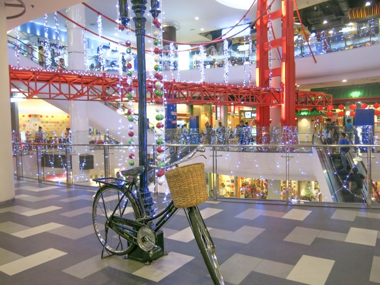 Inside Terminal 21, special decoration for upcoming Christmas and New Year 2014